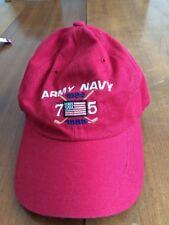 Baseball Hat Adjustable Rear 4Head Cap Army / Navy 75 Year Anniversay
