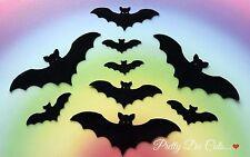 Felt Bats (10), Halloween Die Cut Craft Embellishments