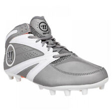 New listing New Mens Warrior 2nd Degree 3.0 Lacrosse Cleats Grey / White Size 11 M Ret