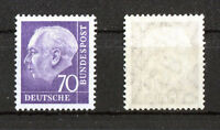 Bund 263 x w Z postfrisch Heuss II mit Wz. 5 Z Wassserzeichen Michel 50,00 €