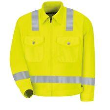 sz 56R 3XL HI Visibility Yellow Safety JACKET ANSI Class 2 JY32HV Zi/Zo Red Kap