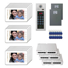 """Apartment Door Security Video Intercom System Kit with (14) 7"""" Color Monitors"""