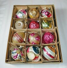 New ListingBox Vintage Ornaments Early Germany Poland Mercury Glass Shapes Indent Embossed