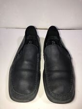 ECCO Men's Driving Loafers Size 42 UK  9 US Extra Width Black Leather