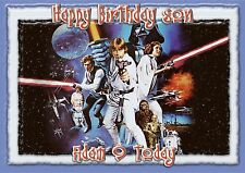 Personalised birthday card Star Wars a5 size son grandson dad daughter brother