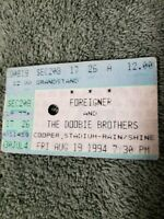 RARE FOREIGNER & THE DOOBIE BROTHERS 1994 Concert Ticket Stub