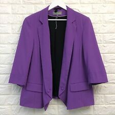 M&S Purple Blazer Jacket UK 20 Blogger Bright Summer Holiday Quirky
