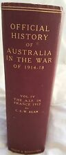 Official History AUSTRALIA War 1914-1918,VOL 4 *C.E.W BEAN SIGNED* Very rare!