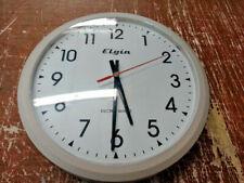 """Vintage Elgin Electric Quartz 13-1/2"""" Wall Clock"""