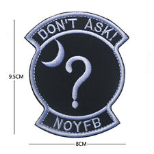 USAF Black Ops Area 51 Don't Ask Special Projects Covert Tactical Morale Patch