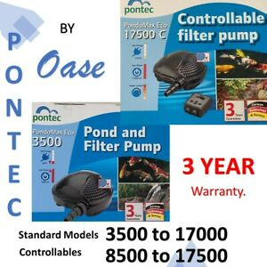 OASE Pontec Pondomax eco pond, waterfall, filter pump. 3 year warranty. low watt
