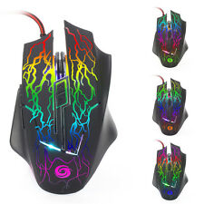 6D 3200DPI LED Optical USB Wired Gaming Mouse Mice for Pro Gamer PC Windows 8/7