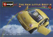 Bburago-Juni 1998-The New Little Beetle-VW-Alfa Romeo-Porsche-BMW-Faltblatt-neu