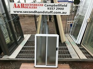 NEW Aluminium SLIDING WINDOWS 900h x 600w (Approx Size) [OBSCURE] 5 COLOURS