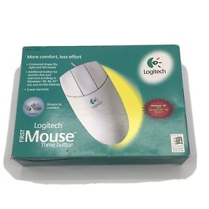 1998 Logitech 3 Button Mouse Model 1455 New Unopened