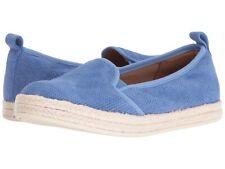 Clarks Azella Major OrthoLite Leather Blue PERFORATED Flats Comfy Slip on 7.5