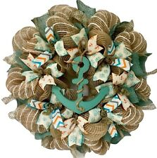 Anchors Away Nautical Wreath Handmade Deco Mesh