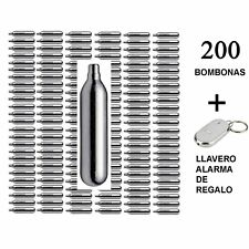 Lote de bombonas de CO2 airsoft (12g, 200 unds) Gamo/Umarex/ASG+llavero silbido