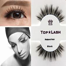Black 1 Pair Natural Mink Hair Thick Long False Fake Eyes Lashes Eyelashes