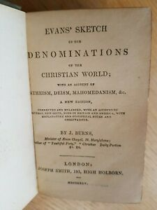 Evans's Sketch on all DENOMINATIONS of RELIGION 1845 - J.Burns - VICTORIAN SECTS