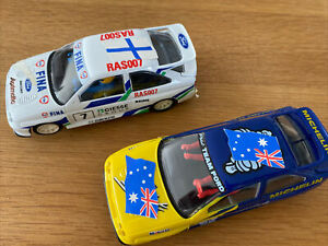 2x SCALEXTRIC FORD ESCORT RS COSWORTHS MICHELIN PILOT & FINA