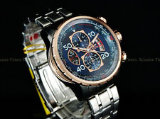 NEW Invicta Men 48mm Aviator Compass  Naval Blue Japan Quartz Chrono SS Watch
