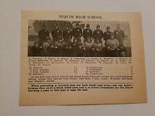 Sequim Washington & Waterville High School 1928 Football Team Picture