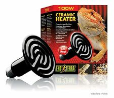 Exo Terra Reptile Habitat Terrarium Ceramic Heater Sun Like Heat Emitter 100 W