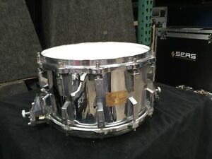 """SONOR HLD-588 SIGNATURE SNARE DRUM 14"""" x 8"""" MADE FROM FERRO MANGANESE STEEL"""