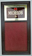 Vtg Michelob Beer Anheuser Busch Reflective Top Menu Board Display Sign 31x17