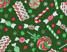 XMAS - PRINTS CHRISTMAS CANDY COTTON FABRIC BTY