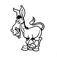 Donkey Decal Window Bumper Sticker Car Decor Cartoon Ass Jackass Horse Pet Mule