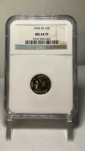 1996-W 10 Cents West Point Dime NGC MS 64 FT
