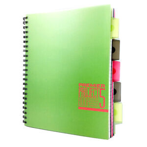 A4 wirebound project book, Executive Project Notebook 250 Pages with 5 Dividers