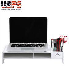 Computer Monitor Riser Shelf Laptop Desktop TV Stand Shelves Home Office Storage