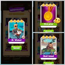 First Prize + Dr. Wicked + Skull Island - Coin Master - Immediate Delivery