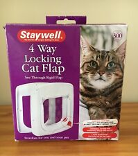 Cat Flap 4 Way Manual Locking Deluxe - Staywell Petsafe - NEW