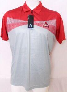 NEW Saint St. Louis Cardinals STL Antigua Conversion Red Polo golf Shirt Men's L