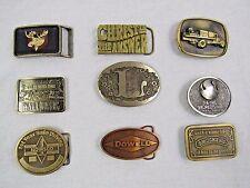 Lot of 9 - Various Unisex Brass Belt Buckles -World's Fair, Dowell Oil Drilling