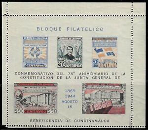 Colombia,Scott#513,2c,5c,20c,40c,1p,MH,souvenir sheet,Scott=$35