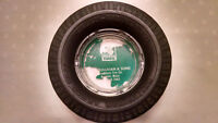 Vintage, Sullivan and Sons Rubber Tire and Glass Ashtray