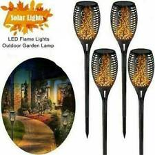 1/4 LED Solar Light Outdoor Waterproof Flickering Flame Solar Path Garden Light