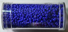 Size 9/0 Seed Beads 6668 Opaque Blue . Gutermann.