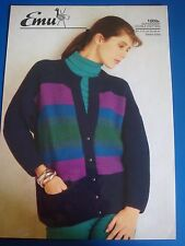 Emu Women's Jacket Knitting Pattern 1009