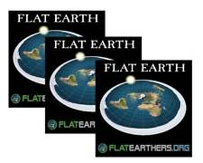 3 Flat Earth Map Sticker- Flat Earth Bumper Sticker- Flat Earthers & Free Ebook