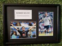 Robbie Keane (Tottenham Hotspur) GENUINE HAND SIGNED AUTO A4 PHOTO MOUNT COA