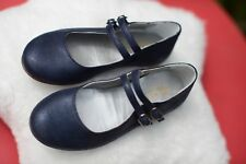 Bonpoint size 27 blue leather shoes. Worn once. Excellent condition