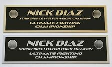 Nick Diaz UFC nameplate for signed mma gloves photo or case