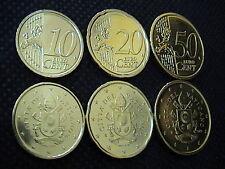 VATICANO 2017 3 monete euro : 10+20+50 eurocent FIOR DI CONIO FDC