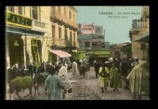Morocco TANGIER Le Petit Socco early PPC busy street scene